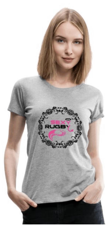 Ballon de Rugby T-Shirt Premium Femme